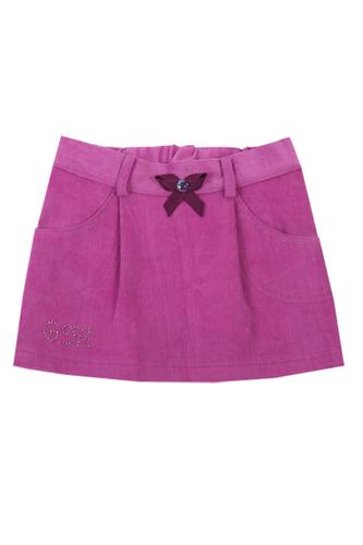 Юбка розовая вельветовая