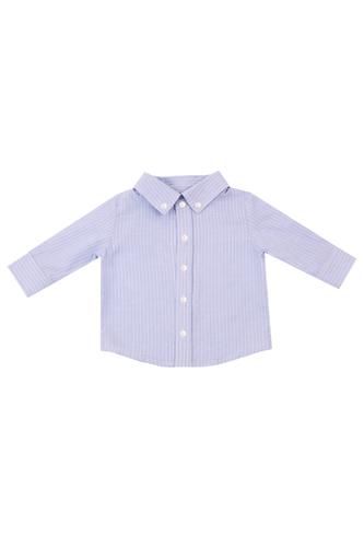 Рубашка голубая в рубчик
