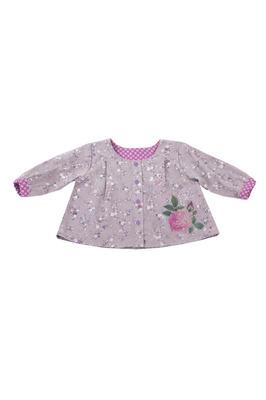 Блузка серая с розой