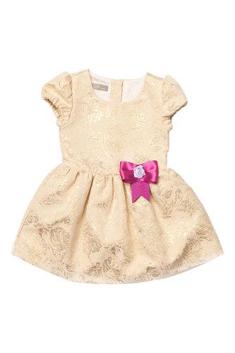Золотое жаккардовое платье для девочки