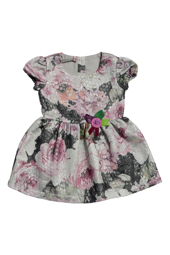 Платье из тафты с люрексом