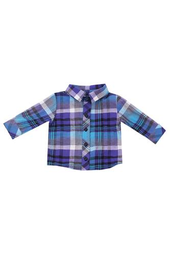 Рубашка в фиолетовую клетку