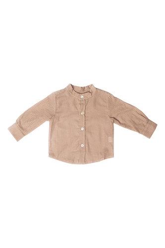 Рубашка кофейная с перфорацией
