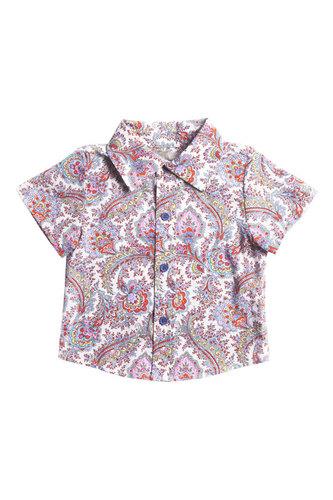 """Рубашка с орнаментом """"Мелкие огурцы"""""""