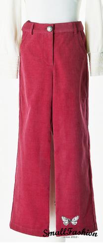 Красные вельветовые брюки для девочки