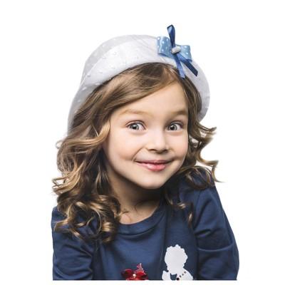 Белая шляпка для девочек