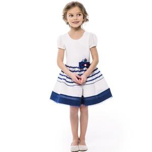 Платье из тафты в полоску