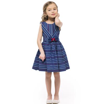Платье в полоску для девочки цвета индиго