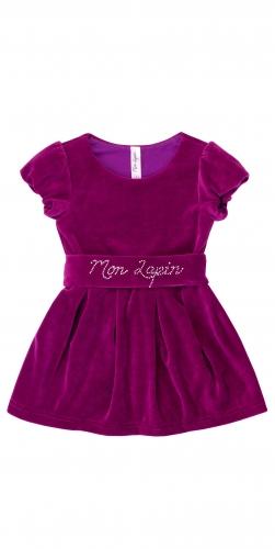Велюровое платье мон лапин для девочки
