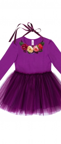 Платье Фиалка mon lapin с колье из роз