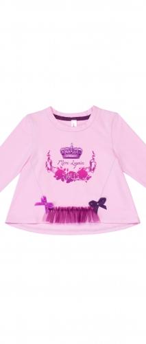 Лонгслив розовый для девочки Mon Lapin