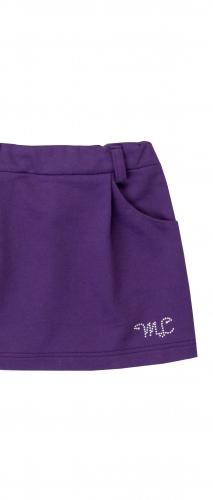 Юбка для девочки с карманами цвета сливы