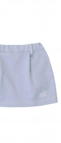 Юбка для девочки с карманами светло-серая