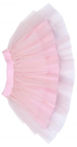 Юбка из нежно-розового фатина для девочки