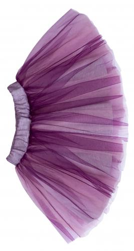 Юбка из фиолетового фатина для девочки