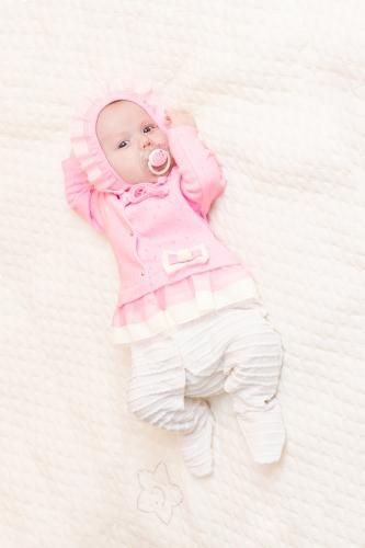 Комбинезон нарядный розово-молочный