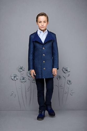 Пальто стеганое синее для мальчика