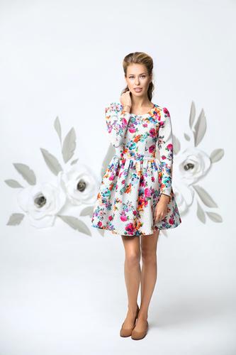 """Платье """"Флора"""" нарядное для мамы"""