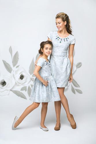 """Платье """"Колье"""" жаккардовое для мамы"""