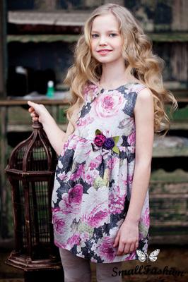 Платье из тафты для девочки
