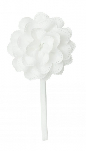 Белая повязка с большим цветком the hip