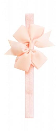 Розовая повязка с бантиком the hip