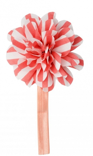 Персиковая повязка с цветком the hip