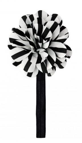 Черная повязка с цветком the hip