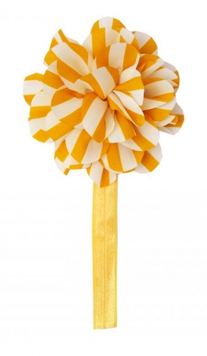 Желтая повязка с цветком the hip