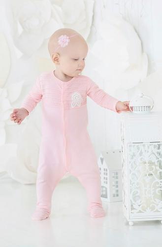Розовый комбинезон с цветочком для девочек the hip