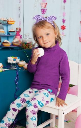 Фиолетовая водолазка для девочки the hip