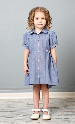 Платье-рубашка для девочки the hip