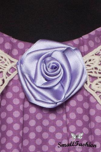 Винтажная блуза «в горошек» с кружевами